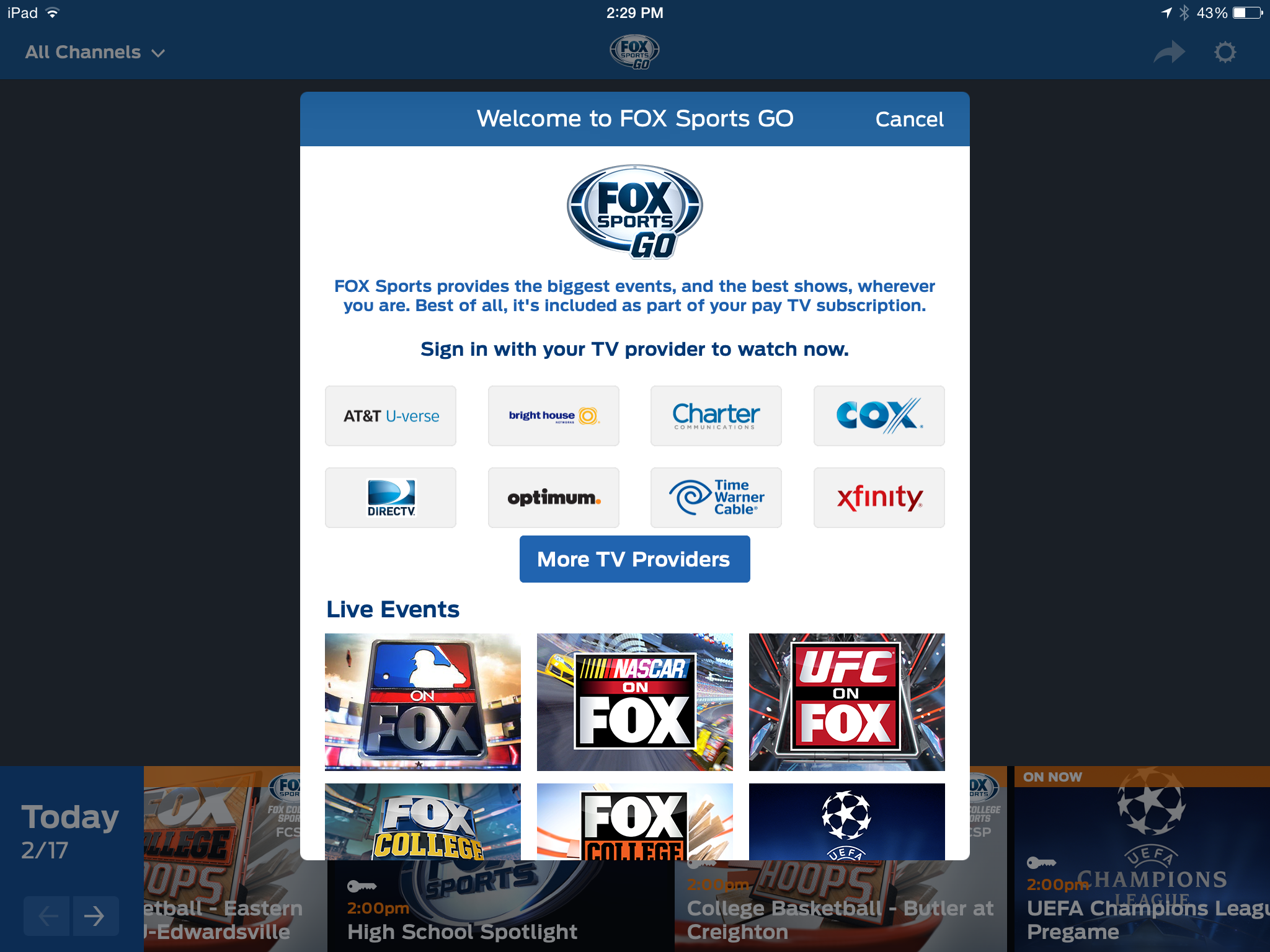 what channel is fox sports 1 on digital cable