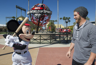 Bryce Harper Meets Mickey Mouse At Disney Sports Complex