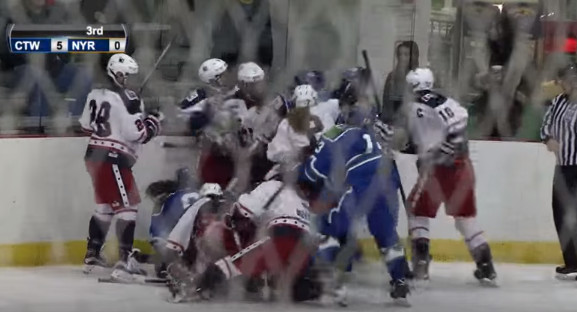 Video Huge Line Brawl From The National Women S Hockey League