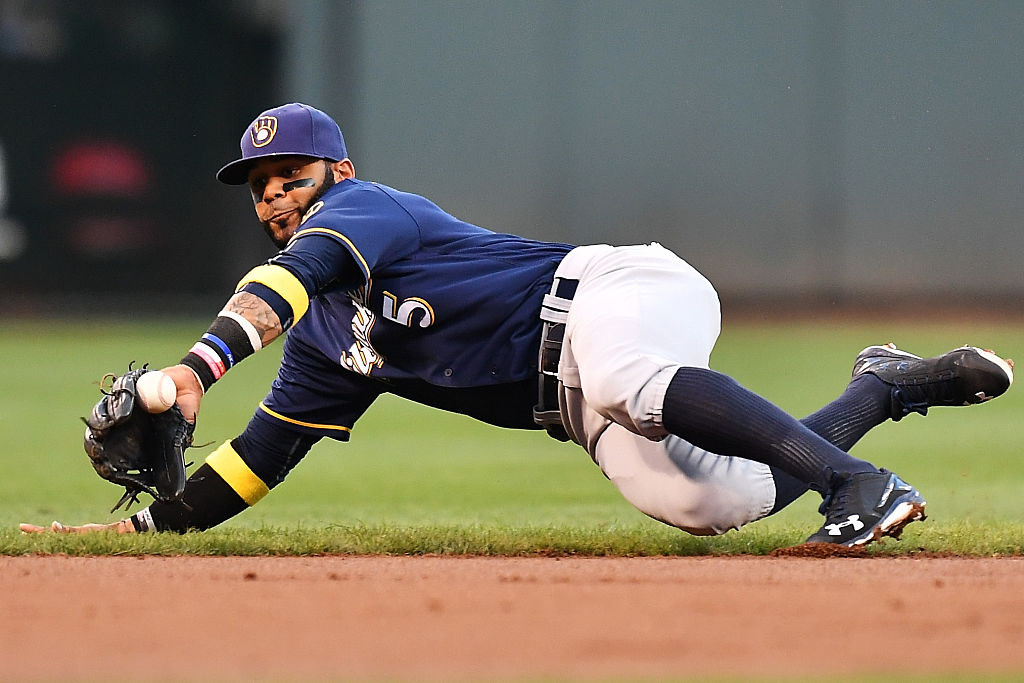 Brewers shortstop Jonathan Villar