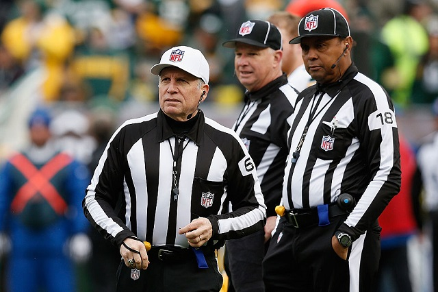 OAKLAND, CA - DECEMBER 20: Referee Walt Anderson #66 looks on after talking with the umpires in the first quarter of the game between the Green Bay Packers and the Oakland Raiders at O.co Coliseum on December 20, 2015 in Oakland, California.  (Photo by Lachlan Cunningham/Getty Images)