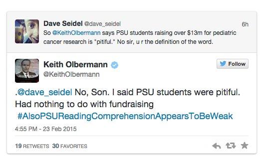 More Olbermann