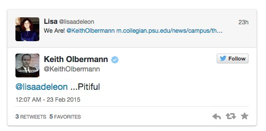 Olbermann-PSU Pitiful