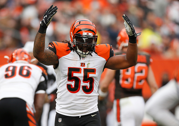 the best attitude 5c564 791c4 Vontaze Burfict fined $70,000 for dirty hits against Steelers