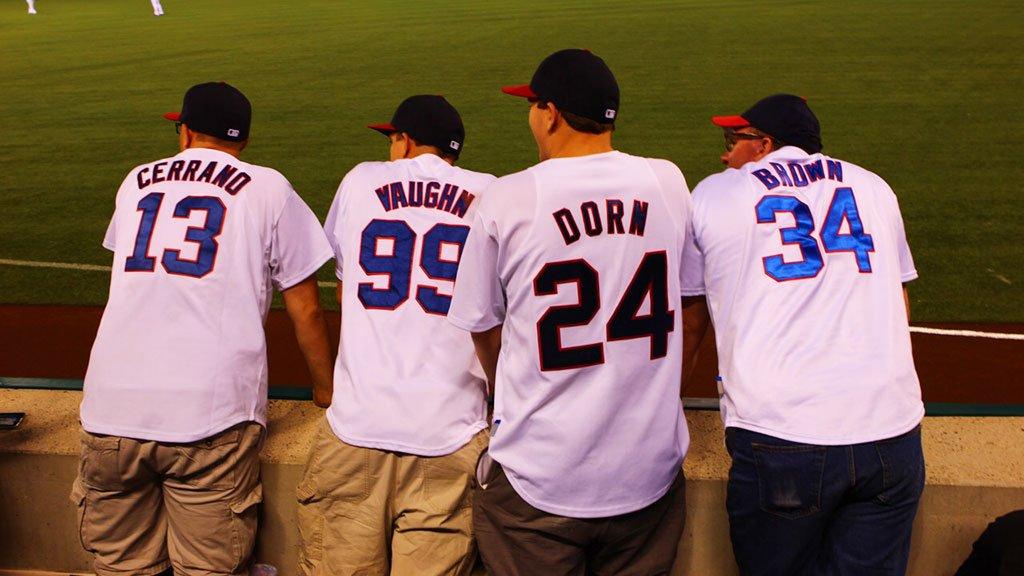 c93ba88e Four Indians fans wear awesome 'Major League