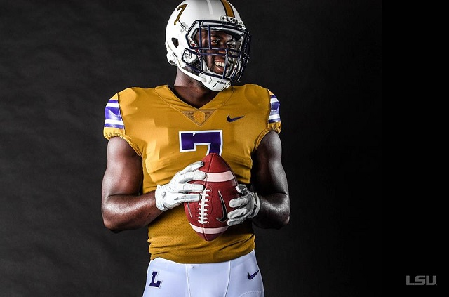 the best attitude c63dd 60af2 LSU will wear these throwback gold uniforms vs Mississippi ...