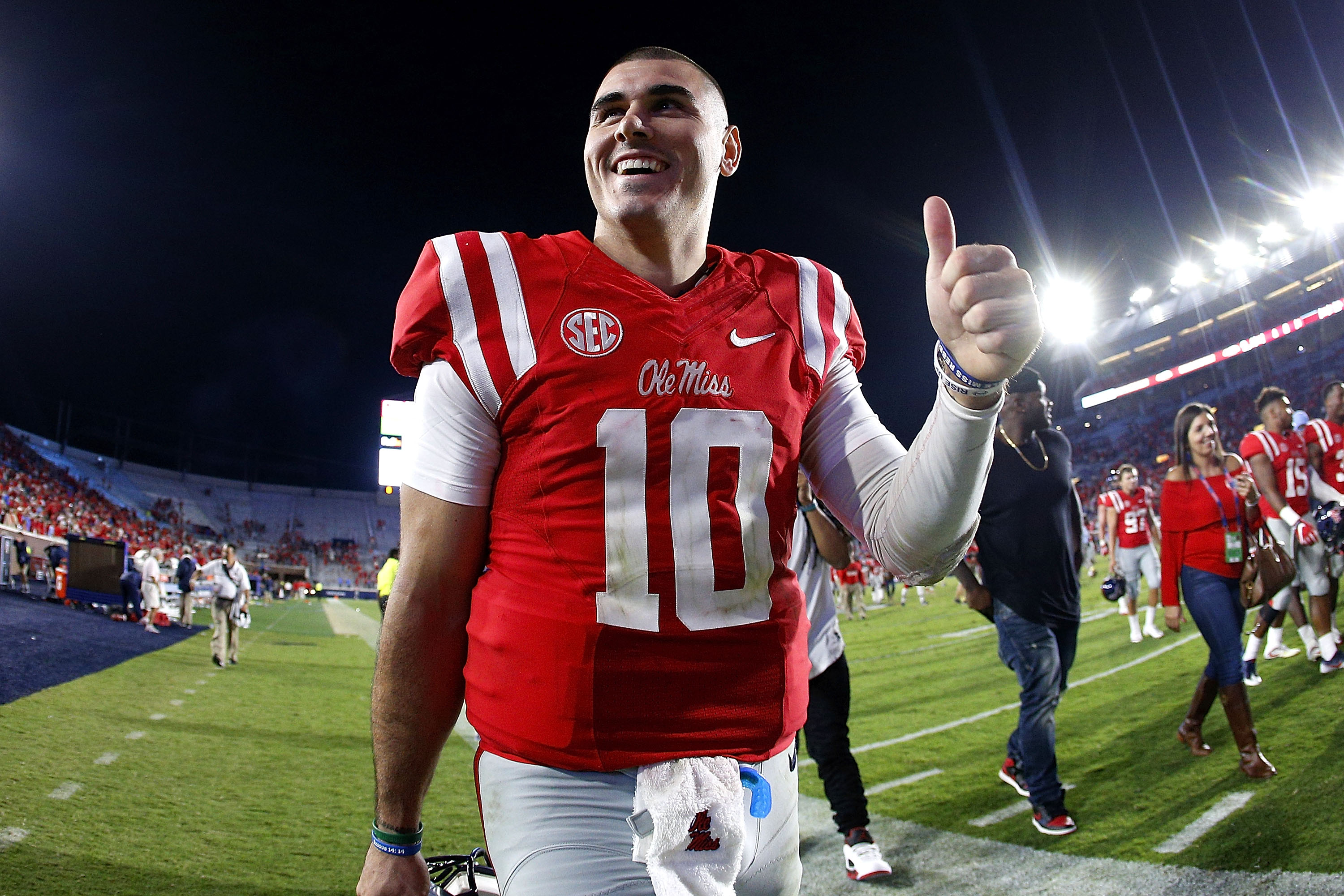 size 40 ed8ab 95aa1 Ole Miss QB Chad Kelly attends game at his high school ...