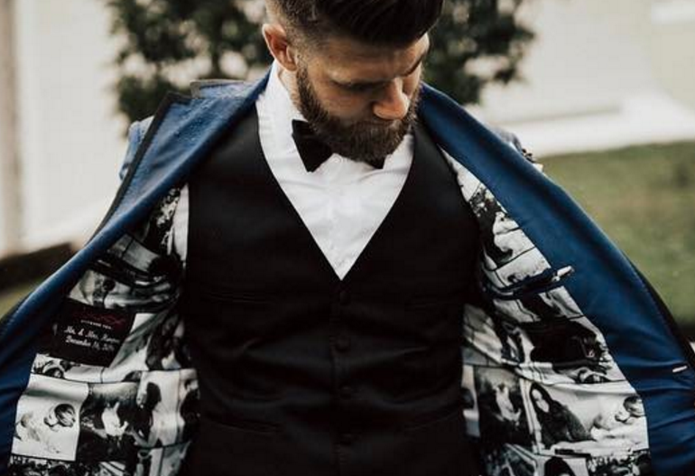 Bryce Harper Wedding.Bryce Harper Has An Unconventional But Sweet Looking Jacket Lining