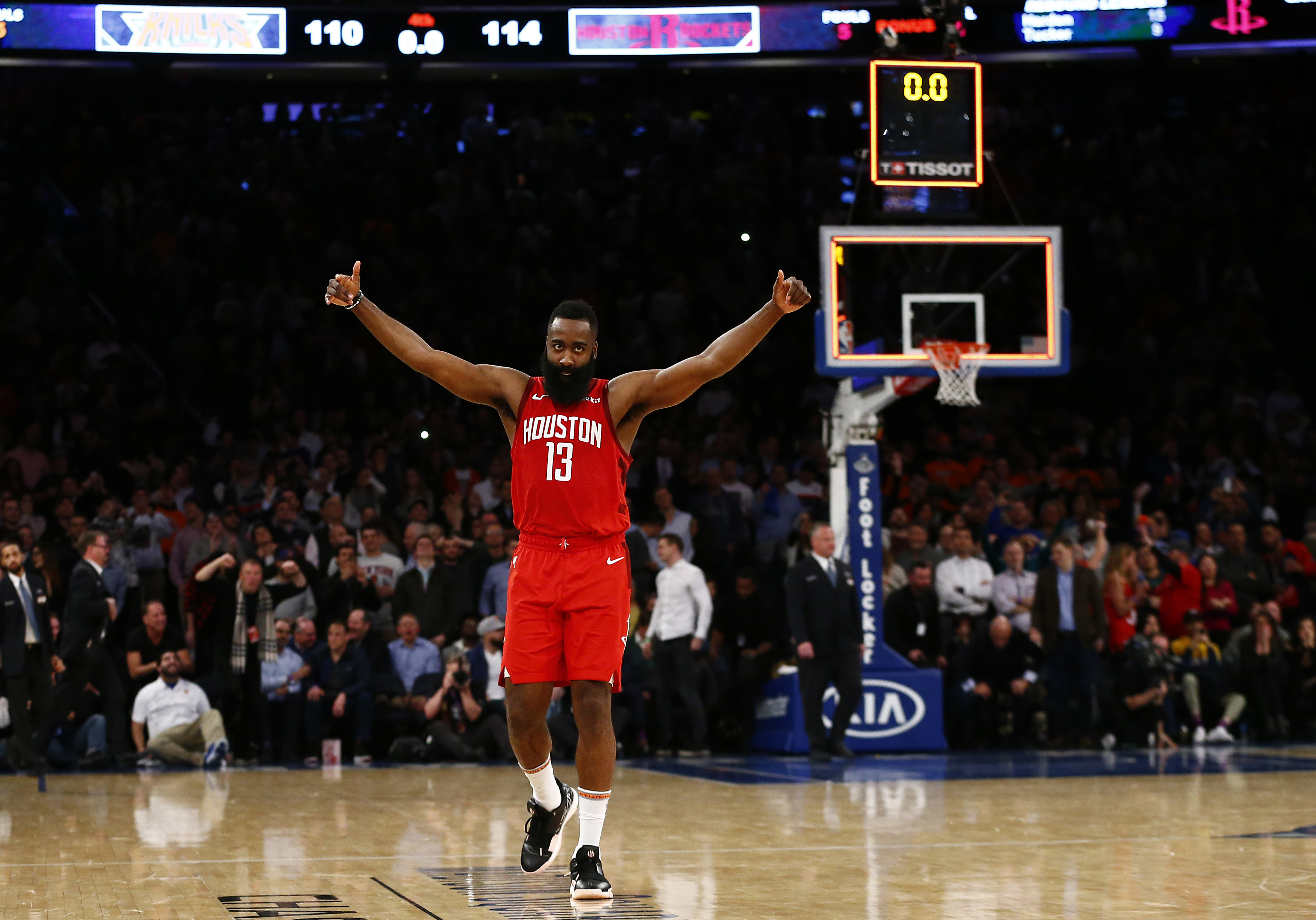 33cef533f917 Stunning James Harden stats and facts following his 61-point performance at  MSG