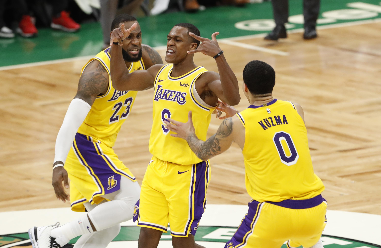 Rajon Rondo Nails Buzzer beater To Give Lakers Wild Win Over Celtics