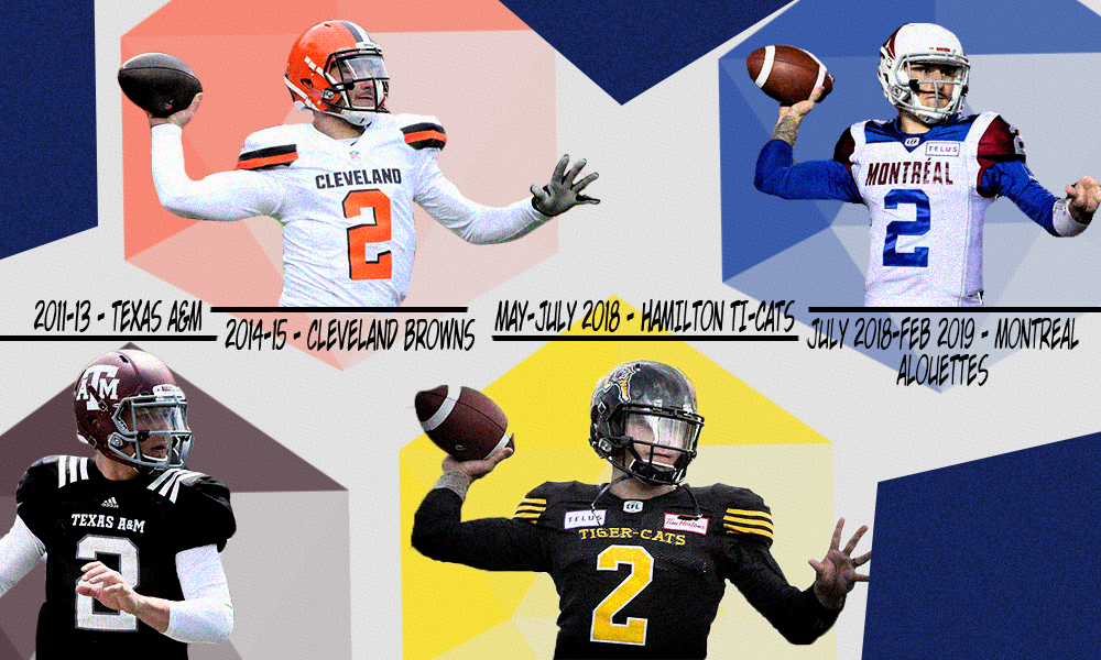 new styles a8e4d 41361 Johnny Manziel's strange CFL journey ends with him banned ...