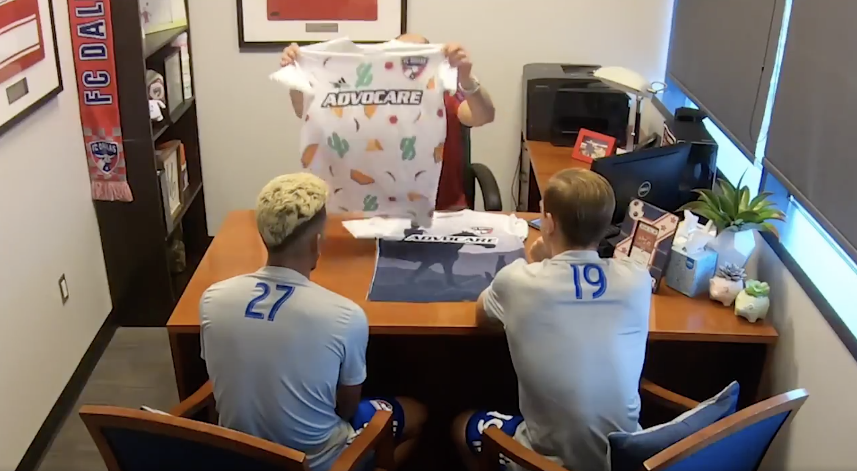 5472823f70f FC Dallas pranks players by showing them three fake kit designs to get  their negative reactions