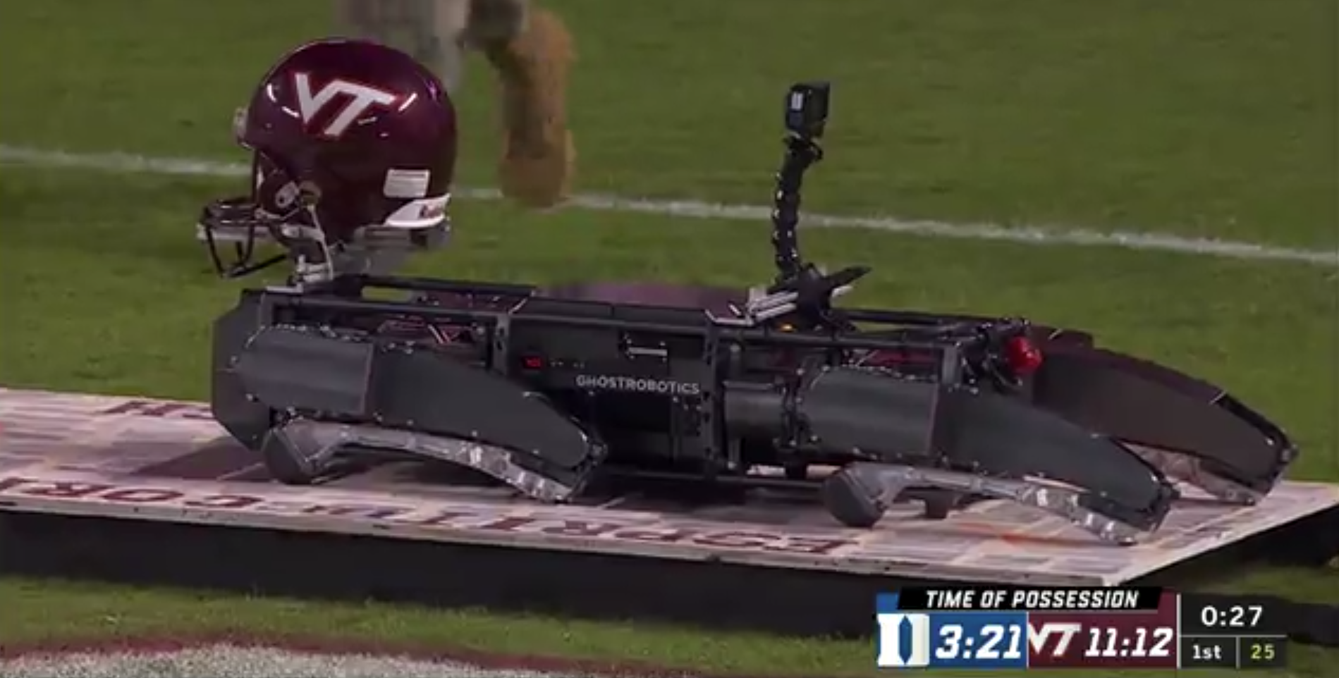 Virginia Tech Has A Robot That Does Push Ups After The Football Team Scores