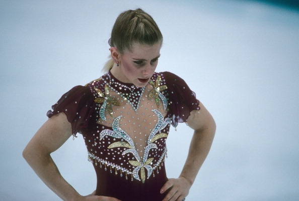 Figure Skating: 1994 Winter Olympics: Closeup of USA Tonya Harding in action, leaving during first attempt of Women's Free Skating at Olympic Amphitheatre. Hamar, Norway 2/25/1994 CREDIT: Manny Millan (Photo by Manny Millan /Sports Illustrated/Getty Images) (Set Number: X45702 TK11 )